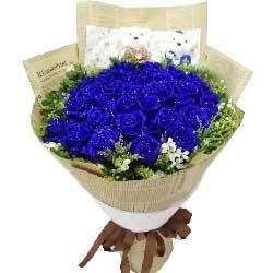 给爱一片广阔的蓝天/29枝蓝色玫瑰