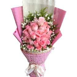 我想念你/30枝粉色玫瑰