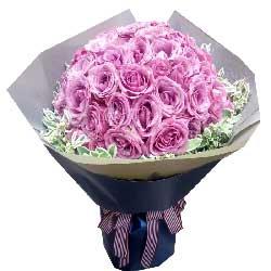 好心情/19枝香槟玫瑰:愿给你带来美好的一天/66枝紫色玫瑰