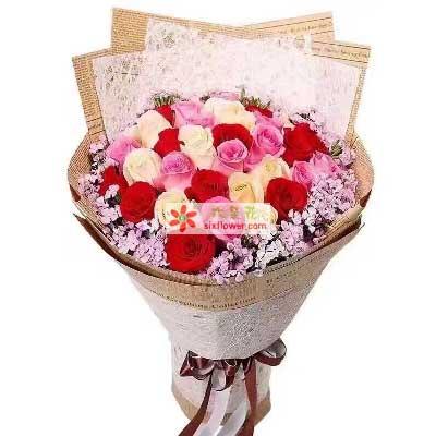 爱上你是我此生十分的幸福/30支玫瑰