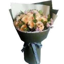 温婉如诗/16枝玫瑰:最诚挚的祝福/19枝香槟玫瑰