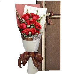 满满的爱/11支红色玫瑰礼盒