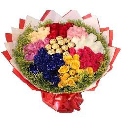 真诚的诺言/21枝红色玫瑰:爱不完/88枝玫瑰巧克力