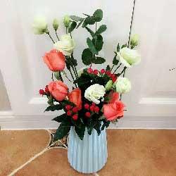 快乐幸福/6枝粉色玫瑰