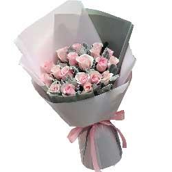 长长的思念/19枝粉玫瑰