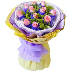 心相印/11枝粉玫瑰