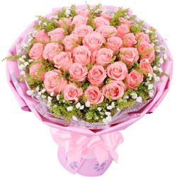 快乐爱人/33枝粉玫瑰