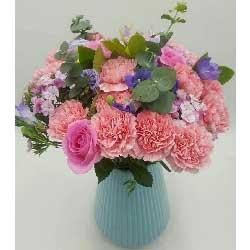 365天天都幸福快乐/16枝康乃馨6枝玫瑰