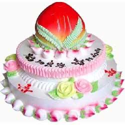 三层祝寿蛋糕