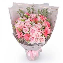 美丽的爱/33枝粉玫瑰