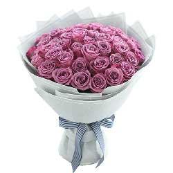 浪漫的爱的世界/50枝紫色玫瑰