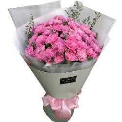 开心的祝愿/5枝向日葵:心情舒畅/29枝粉色康乃馨