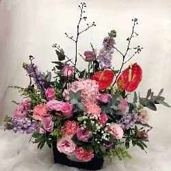 好运滚滚来/29枝粉色玫瑰,9枝康乃馨