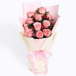 一路同行/11枝粉玫瑰