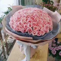 今生手相牵/99枝香槟玫瑰:永远在一起/99枝粉玫瑰