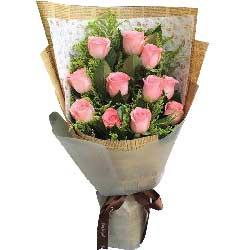 爱你无期限/11枝粉色玫瑰