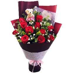 真挚的爱和祝福/11枝红色玫瑰