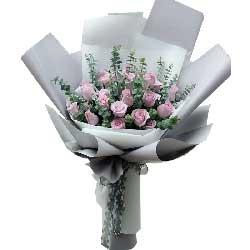爱的甜蜜/21枝粉玫瑰