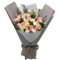 每天都想着你/16枝粉色玫瑰