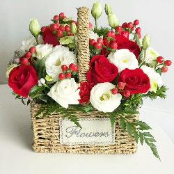感激与敬仰/22枝玫瑰花篮