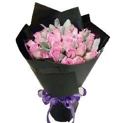 愿你我并肩同行/21枝粉玫瑰