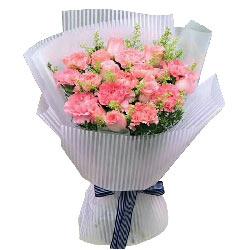 不变的爱/11枝粉色康乃馨,9枝粉色玫瑰