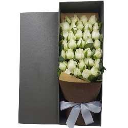 最爱的人/33枝白色玫瑰礼盒
