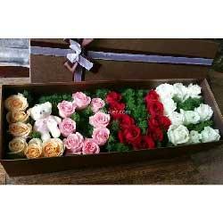 有你就是幸福/19枝香槟玫瑰:你懂吗/33枝玫瑰礼盒装