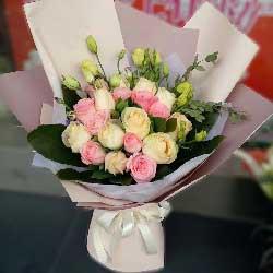 快乐幸福永伴一生/18枝玫瑰