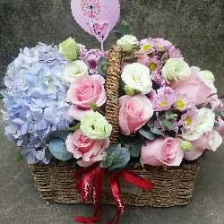 尽享无穷幸福/16枝粉色康乃馨:20枝粉玫瑰/洋溢幸福的笑容