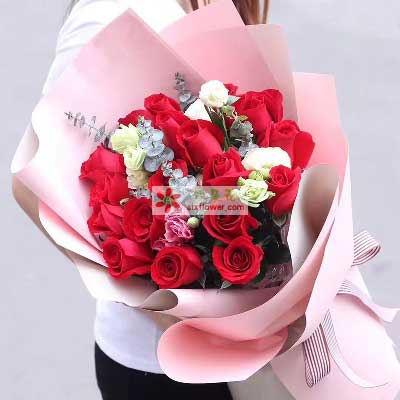 想你夜不能寐/21枝红色玫瑰