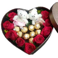 你在我心中是最美/9枝红色玫瑰,9枝巧克力
