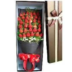 爱你,心牵挂/33只草莓礼盒