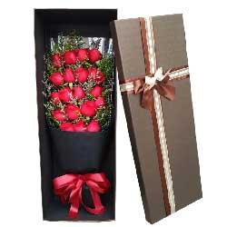 爱情的港湾/19枝红色玫瑰礼盒