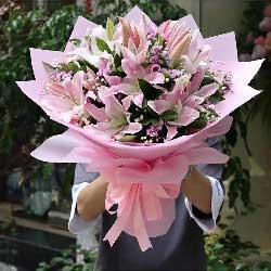 我爱您妈妈/5枝百合玫瑰:真情问候/6枝百合