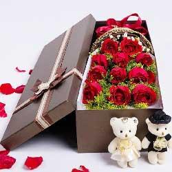 一生都快乐/19枝玫瑰:11枝红玫瑰/浪漫礼盒