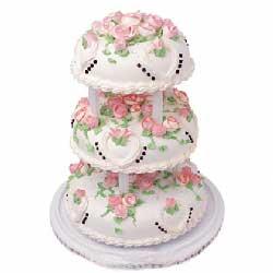 满满的爱/三层圆形鲜奶蛋糕