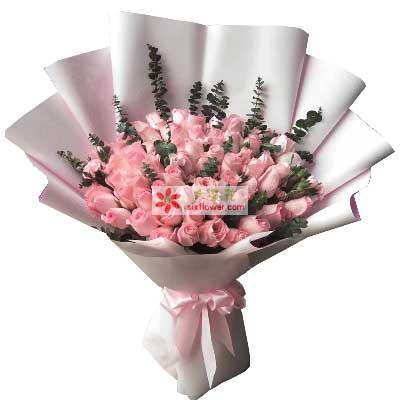 每天都想你/66枝粉色玫瑰