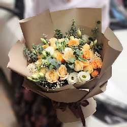 有你就是幸福/19枝香槟玫瑰:你想我了吗/26枝玫瑰