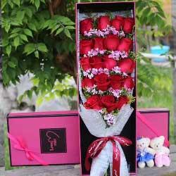 一生的承诺/19枝红色玫瑰礼盒