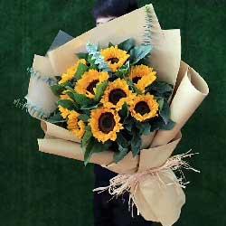 我爱您妈妈/5枝百合玫瑰:9枝向日葵/真诚的心境