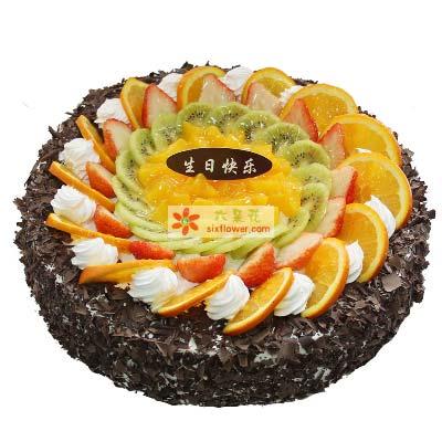 时时刻刻惦记你/水果巧克力蛋糕