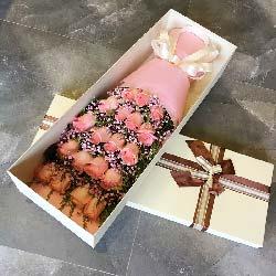 你是我的另一半/19枝粉色玫瑰礼盒