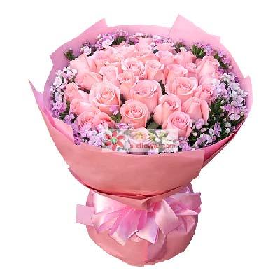 爱的愿望/33枝粉玫瑰