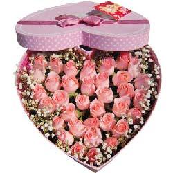 感谢缘分/19枝香槟玫瑰:亲密爱人/36枝粉玫瑰