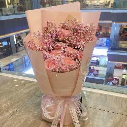幸福的明天/11枝粉玫瑰