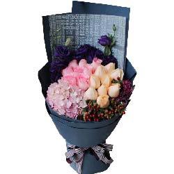 爱情的港湾/19枝红色玫瑰礼盒:一生都快乐/19枝玫瑰
