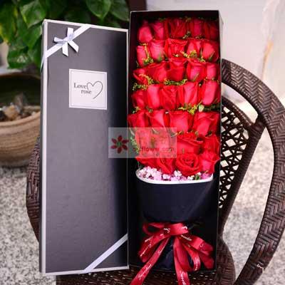 34朵红玫瑰,礼盒装,你就是我要爱护保重的人