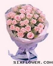 24枝粉玫瑰/甜蜜