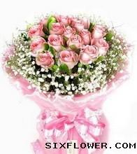 甜蜜约定/19支粉玫瑰